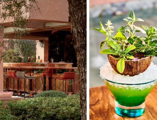 Miss Green, the star of  the summer cocktails at Le Jardin Royal Mansour