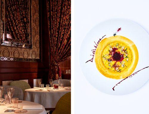 Saffron and Licorice Risotto recipe by Massimiliano Alajmo